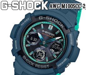 あす楽 G-SHOCK ジーショック カシオ メンズ 腕時計 電波 タフソーラー AWG-M100SCC-2 アナデジ 防水 耐衝撃 ワールドタイム オートLED 20気圧防水 ブラック