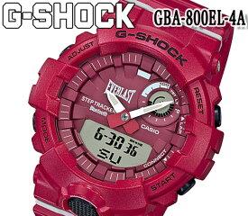 あす楽 送料無料 GBA-800EL-4A ジーショック G-SHOCK カシオ CASIO 限定 G-SQUAD EVERLAST コラボレーションモデル モバイルリンク 20気圧防水 アナデジ 腕時計