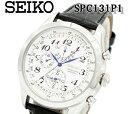 【送料無料】【新品正規品】【1年間保証】 SEIKO セイコー 逆輸入 海外モデル セイコー 海外モデル SPC131P1 メンズ 腕時計 レザー クロノグラフ クオーツ ホワイト 誕生日プレゼント 男性 ギフト