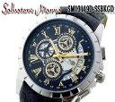 送料無料 サルバトーレマーラ SALVATORE MARRA クオーツ メンズ 腕時計 SM13119S-SSBKGD メンズ ステンレス(ケース) レザー(ベルト) クオーツ 5気圧防水 クロノグラフ 日付カレンダー
