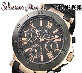 送料無料 サルバトーレマーラ SALVATORE MARRA メンズ 腕時計 SM14118-PGBK メンズ ステンレス クオーツ 10気圧防水 クロノグラフ 日付カレンダー