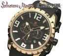送料無料 サルバトーレマーラ SALVATORE MARRA クオーツ メンズ 腕時計 sm15107-pgbk ステンレス(ケース) レザー(ベルト) クオーツ 10気圧防水 クロノグラフ 日付カレンダー 60分積算計