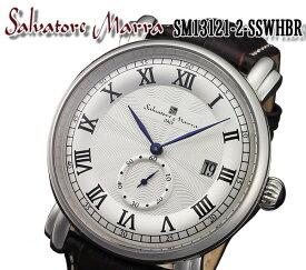 【送料無料】 salvatore marra サルバトーレマーラ メンズ 腕時計 SM13121-sswhbr ブラウン レザー ベルト カレンダー おしゃれ プレゼント ビジネス