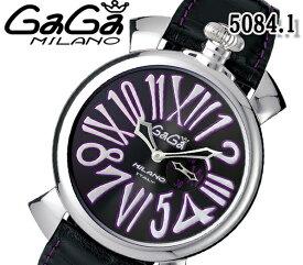 送料無料 新品 ガガミラノ 5084.1 スリム 46MM 腕時計 ユニセックス GaGa MILANO クォーツ ねじ込み式リューズ レザーベルト 人気 ブランド ウォッチ おすすめ 紫 パープル