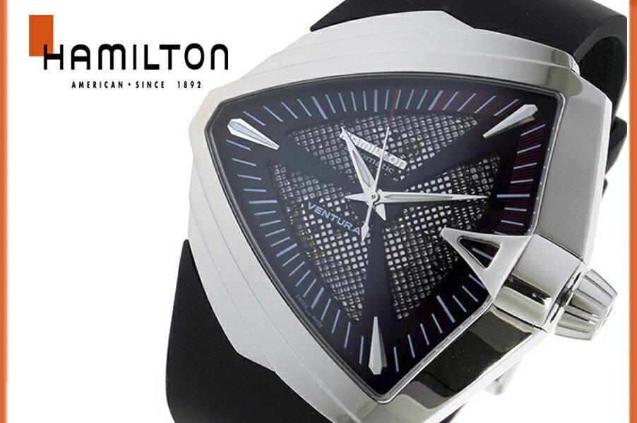 【送料無料】【新品正規品】ハミルトン HAMILTON ベンチュラ VENTURA メンズ レディース H24655331 XXL オート 腕時計 クォーツ ブラック ラバーストラップ