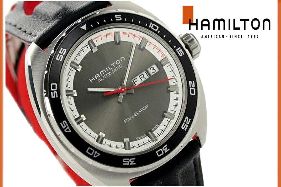 【送料無料】【新品正規品】 HAMILTON ハミルトン アメリカンクラシック 変えベルト メンズ 腕時計 H35415781 オート 自動巻き バックスケルトン ステンレス パンユーロ シースルーバック