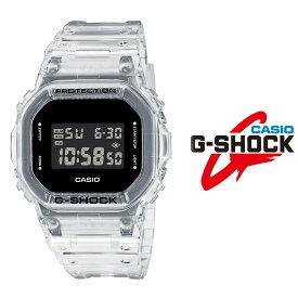 あすらく 送料無料 カシオ casio G-SHOCK Gショック スケルトンシリーズ dw-5600ske-7 メンズ 腕時計 デジタル スクエアフェイス