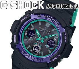 あす楽 送料無料 G-SHOCK ジーショック カシオ メンズ 腕時計 電波 タフソーラー AWG-M100SBL-1A アナデジ 防水 耐衝撃 ワールドタイム オートLED 20気圧防水 ブラック