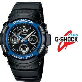 あす楽 送料無料 G-SHOCK ジーショック メンズ カシオ 腕時計 Gショック 時計 AW-591-2A デジタル 液晶 防水 ブラック ブルー アラーム ワールドタイム 20気圧防水 黒 青 メンズ キッズ 国内品番 AW-591-2AJF