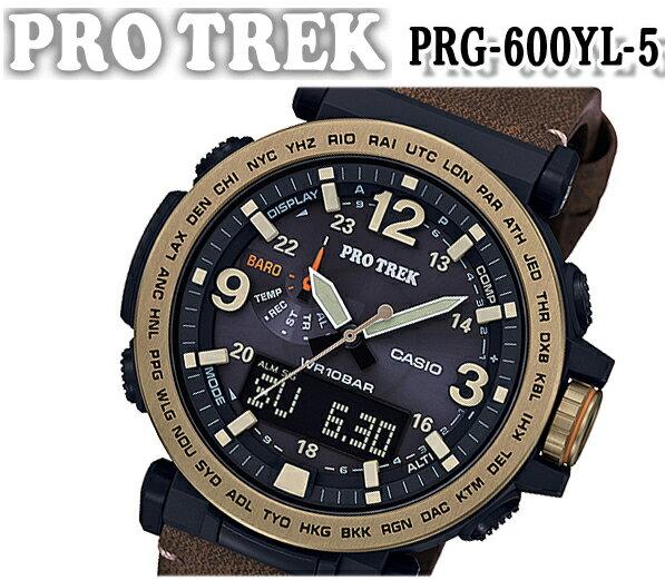 [新品][正規品][送料無料]カシオ プロトレック prg-600yl-5 ソーラー メンズ 腕時計 CASIO PRO TREK ブラック ソーラー クロノグラフ おすすめ 人気 ブランド プレゼント アウトドア