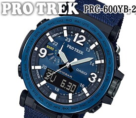 あす楽 送料無料 楽天最安値 CASIO カシオ PRO TREK プロトレック NAVY BLUE PRG-600YB-2 ソーラー トリプルセンサー ダイレクト計測ボタン メンズ 腕時計 ブラック