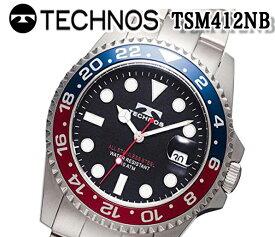 新品 テクノス TECHNOS 腕時計 メンズ クロノグラフ カレンダー クオーツ ダイバーズ tsm412nb おすすめ 人気 モデル アナログ ブランド ビジネス 回転ベゼル