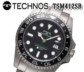 送料無料 新品 テクノス TECHNOS 腕時計 メンズ クロノグラフ カレンダー クオーツ ダイバーズ tsm412sb おすすめ 人気 モデル アナログ ブランド ビジネス 回転ベゼル