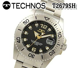 送料無料 テクノス TECHNOS メンズ 腕時計 スポーツ クオーツ ステンレス T2679SH おすすめ 人気 モデル スイス アナログ ビジネス