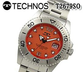 送料無料 テクノス TECHNOS メンズ 腕時計 スポーツ クオーツ ステンレス T2679SO おすすめ ブルー スイス アナログ ビジネス 回転ベゼル 15気圧防水