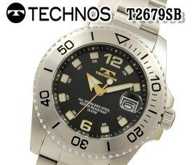 あす楽 送料無料 テクノス TECHNOS メンズ 腕時計 スポーツ クオーツ ステンレス T2679SB おすすめ アナログ ビジネス ブランド プレゼント お祝い