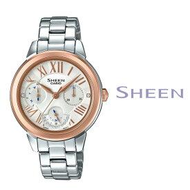 あす楽 送料無料 カシオ CASIO SHEEN シーン レディース 腕時計 アナログ シルバー スパークリング スワロフスキー カレンダー SHE-3059SG-7A