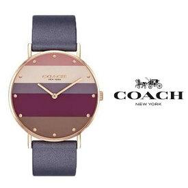 あす楽 送料無料 コーチ COACH PERRY ペリー レディース 腕時計 14503470 マルチカラー パープル レザー プレゼント おすすめ アナログ クォーツ