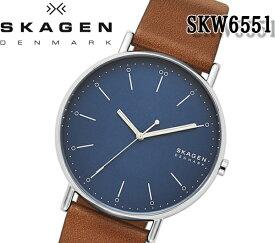 あす楽対応 SKAGEN スカーゲン 腕時計 SIGNATUR シグネチャー skw6551 メンズ クォーツ レディース 腕時計 レザー ビジネス ファッション プレゼント