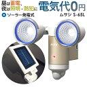 【58%引き】センサーライト ムサシ RITEX 3W×2LED ソーラーセンサーライト(S-65L) 玄関 照明 LED ソーラーライト 防…