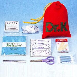 救急セットDr.Kドクターケー(巾着型)(防災用品 防災グッズ 持ち運び 収納 登山 アウトドア)