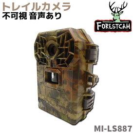 トレイルカメラ FORESTCAM 超小型 トレイルカメラ 屋外 長時間 1080P 不可視 音声あり 監視 野生動物 生態撮影 防水 防犯 MI-LS887