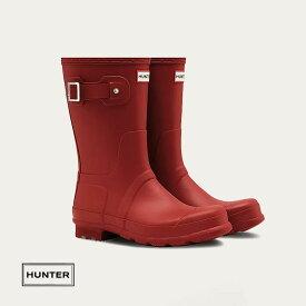 HUNTER ハンター メンズ オリジナルショートブーツ ミリタリーレッド 商品番号:MFS9000RMA
