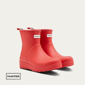 HUNTERハンター レディース オリジナル プレイ ショートブーツ [ ロゴレッド ] ハンタージャパン正規輸入品