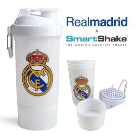【5%OFFクーポン発行中】スマートシェイク SmartShake Realmadrid レアルマドリード コラボ ボトル容量800ml フィットネスシェイカーボトル ジム 運動 ワークアウト 水筒 水分補給 フットボール サッカー【39ショップ】