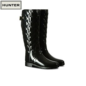 HUNTER / ハンター WFT1031RGL BLK REFINED GLOSS QUILT TALL 【送料無料】【ラッキーシール対応】