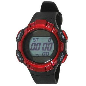 【5%OFFクーポン発行中】CREPHA/クレファー TE-D053-RD ソーラー スポーツウォッチ 腕時計 ランニング ウォーキング【39ショップ】