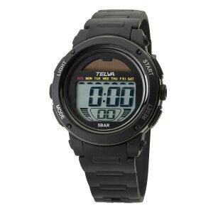 【5%OFFクーポン発行中】CREPHA/クレファー TE-D192-BK ソーラー スポーツウォッチ 腕時計 ランニング ウォーキング【39ショップ】