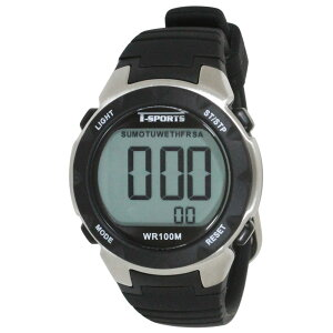 【5%OFFクーポン発行中】CREPHA/クレファー TS-D060-BK 10年電池10気圧 スポーツウォッチ 腕時計 ランニング ウォーキング【39ショップ】