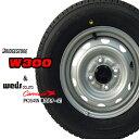 ブリヂストン2019年製造 W300 145R12 6PR【スタッドレスタイヤ】スチールホイール(●単穴●PK354SN)4本セット【軽ト…
