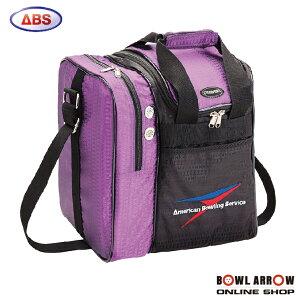 ABS B20-320(パープル)ボウリングバッグ ボウリング ボール 小物 1個 人気 シューズ バッグ 売れ筋 パープル 紫 グッズ 用品 鞄 ボーリング
