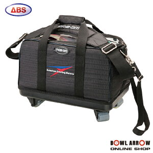 ABS B20-880(ブラック)ボウリングバッグ ボウリング ボール 小物 2個 人気 シューズ バッグ 売れ筋 ブラック 黒 グッズ 用品 鞄 ボーリング キャスター