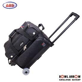 ABS B20-1180(ブラック)ボウリングバッグ ボウリング ボール 小物 2個 人気 シューズ バッグ 売れ筋 ブラック 黒 グッズ 用品 鞄 ボーリング キャスター