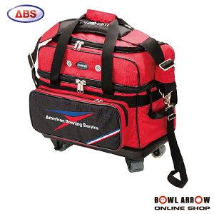 ABS B20-1250(レッド)ボウリングバッグ ボウリング ボール 小物 2個 人気 シューズ バッグ 売れ筋 レッド 赤 グッズ 用品 鞄 ボーリング キャスター