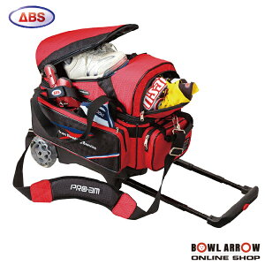 ABS B20-1500(レッド)ボウリングバッグ ボウリング ボール 小物 2個 人気 シューズ バッグ 売れ筋 レッド 赤 グッズ 用品 鞄 ボーリング カート