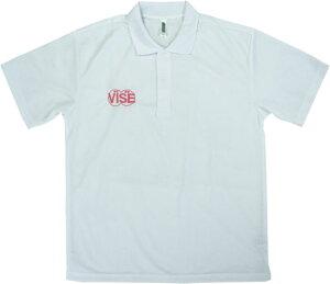 VISE ドライポロ ホワイト・コーラルピンク ボウリング ウエア ボウリング用品 ボーリング グッズ