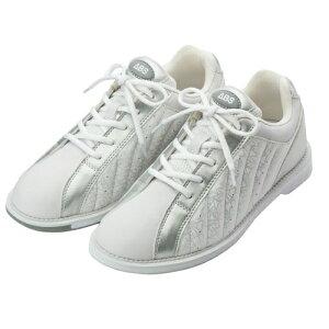 ABS ボウリング シューズ S-250 ホワイト・シルバー ボウリング用品 ボーリング グッズ 靴