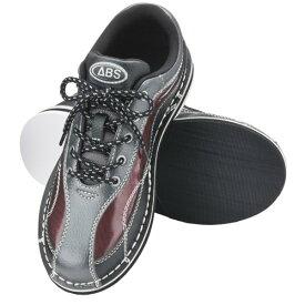 ABS ボウリング シューズ S-570 ブラック・ワイン ボウリング用品 ボーリング グッズ 靴