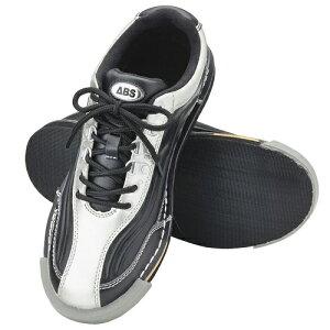 ABS S-1230 ブラック・シルバー ボウリング シューズ ボウリング用品 ボーリング グッズ 靴