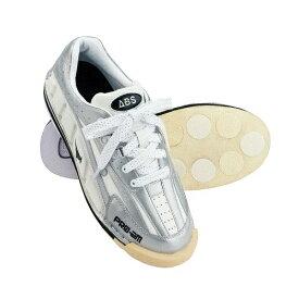 ABS ボウリング シューズ NV-3 ホワイト・シルバー ボウリング用品 ボーリング グッズ 靴