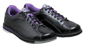 HI-SP ボウリング シューズ HS-390 ブラック・パープル ボウリング用品 ボーリング グッズ 靴