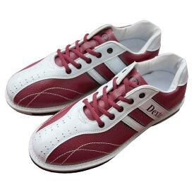 Dexter ボウリング シューズ Ds38 ワイン・ホワイト デクスター ボウリング用品 ボーリング グッズ 靴