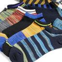 靴下 メンズ ソックス MIXカラー ショート丈(くるぶし丈) 10足セット / 送料無料 / あす楽対応