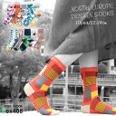 レディース ソックス 絵本のようなカラフルな北欧デザイン ハイクルー丈 10足セット 靴下 クルー 22-24cm / あす楽対応 / 送料無料