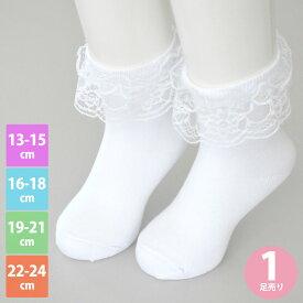 ee2cffec8b3d8  送料無料  靴下 キッズ 白 女の子 フォーマル ホワイトソックス 履き口フリル クルー丈