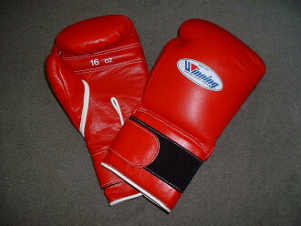 【IN STOCK at AMERICA-YA warehouse】16 oz WINNING Boxing Gloves (professional type) with Velcro Closure